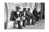 A Group of Old Sardinian Shepherds Photographic Print