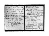 Notes Taken by Enrico Fermi Photographic Print
