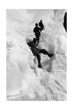 Alpinists on the Khumbu Glacier Photographic Print