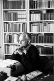 Alberto Moravia Sitting at the Writing Desk Photographic Print