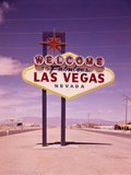 A Welcoming Sign in Las Vegas Photographic Print