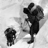 Alpinists Roped Together on the Mount Everest Photographic Print