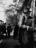 Sigmund Freud Holding a Cigar Photographic Print