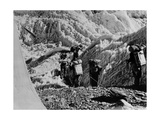 Alpinists Walking Photographic Print