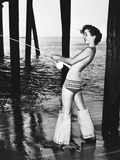 Debbie Reynolds Fishing Photographic Print