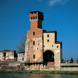 Guelph Tower, Pisa, 1956, 20th Century, Unfaced Brick Photographic Print by Unknown Artist