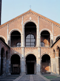 St Ambrose Basilica in Milan, 1080, 11th Century, Unfaced Brick Photographic Print by Unknown Artist