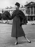 A Woman Wearing Lanvin Castillo's Clothes Photographic Print