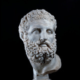 Head of Heracles, 2nd Century, Marble, Full Relief Photographic Print by Unknown Artist
