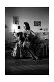 Giorgia Moll with a Dog and a Teddy Bear Photographic Print