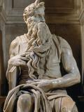 Tomb of Giulio II: Moses, by Buonarroti Michelangelo, 1513, 16th Century, Marble Photographic Print by  Michelangelo Buonarroti