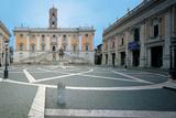 Piazza Del Campidoglio in Rome Photographic Print by  Michelangelo Buonarroti