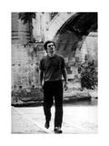 Luigi Tenco Walking Along the River Photographic Print