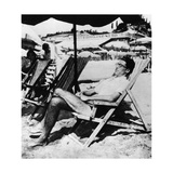 Cesare Pavese on a Deckchair Photographic Print