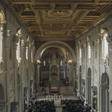 Basilica of St. John Lateran During a Liturgical Celebration, Ca. 2000 Photo by Domenico Fontana Borromini