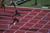 Carl Lewis in the Race Photographic Print