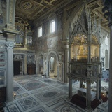 Basilica of St. John Lateran (Transept with the Ciborium) Posters by Domenico Fontana Borromini