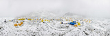 Panorama of Everest Base Camp on the Khumbu Glacier in Nepal after a Fall of Snow Photographic Print by Alex Treadway