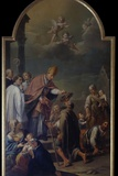 Saint Carl Ministers to Poor People (Puts a Coin in the Hat of a Beggar) Prints by Antonio Rossi
