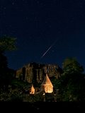 A Meteor and the North Star, Polaris, in the Night Sky over Geghard Monastery Photographic Print by Babak Tafreshi