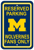 University of Michigan Parking Sign Wall Sign