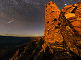 A Fireball, a Bright Meteor, Streaks across the Sky Above the Grand Canyon Photographic Print by Babak Tafreshi