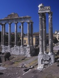 Roman Forum, at Left, Temple of Saturn, C. 300 Ad. Vespasian's Temple, C. 100 AD Prints
