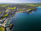 Aerial View over Portstewart in Northern Ireland Photographic Print by Chris Hill