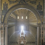 Basilica of Saint Paul Outside the Walls, 19th C. Reconstruction Poster by Pasquale Belli