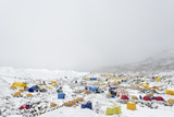 Everest Base Camp on the Khumbu Glacier in Nepal after a Snow Fall Photographic Print by Alex Treadway