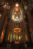 Astounding Architecture in Antoni Gaudi's La Sagrada Familia Cathedral Photographic Print by Joe Petersburger