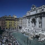 Trevi Fountain Posters by & Pannini, Nicola & Giuseppe Salvi