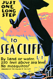 Sea Cliff Long Island NY Tourism Travel Vintage Ad Poster Prints