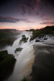 A Dramatic Sunset over Iguazu Falls Photographic Print by Alex Saberi