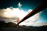 Heavy Clouds over the Golden Gate Bridge, Seen from Below Photographic Print by Sergio Pitamitz