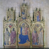 Triptych with the Madonna and Four Saints, 1410 Print by Lorenzo (Pietro) Monaco (di Giovanni)