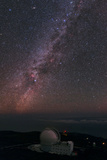 The William Herschel Telescope Below the Milky Way Photographic Print by Babak Tafreshi