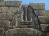 Lion Gate, at the Citadel of Mycenae Posters