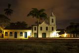Night View of the Nossa Senhora Das Dores Roman Catholic Church Photographic Print by Eduardo Rubiano