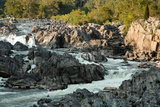 Kayaker Brave the Rapids at Great Falls on the Potomac River Photographic Print by Vickie Lewis