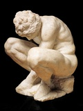 Crouching Boy Prints by  Michelangelo Buonarroti