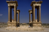 Roman Tetrapylon, Built at an Intersection of Two Roads. 2nd Century A.D. Palmyra, Syria Photo by Andrea Jemolo