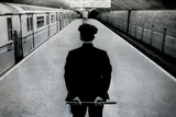 Policeman on New York City Subway Platform Poster Photo