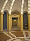 Classic Ballerina Dancing in a Rotunda Photographic Print by Kike Calvo