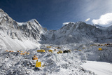 Everest Base Camp on the Khumbu Glacier in Nepal after a Fall of Snow Photographic Print by Alex Treadway