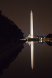 Monuments, Washington Monument and Capitol from Lincoln Memorial Steps Photographic Print by Vickie Lewis