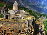 The 9th Century Monastery of Tatev Is Located on a Large Basalt Plateau in Armenia Fotografisk tryk af Babak Tafreshi