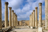 Ruins of Church of Saint Theodore, 496, Jerash, Jordan Print by Andrea Jemolo