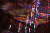 Looking Up Through Netting at Stained Glass Windows in Washington National Cathedral Photographic Print by Vickie Lewis
