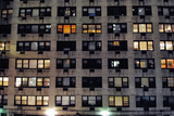 Apartment Building in Manhattan at Night, New York City Photographic Print by Sabine Jacobs